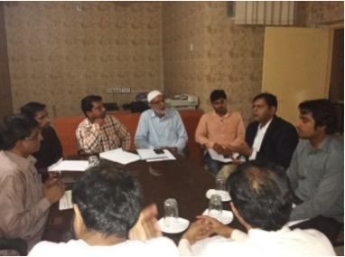 Meeting with Cutlery Association in Wazirabad in Gujranwala